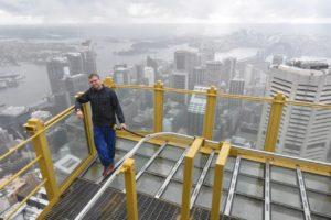 Sydney Tower Eye, it rained hard