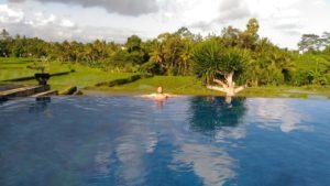 Infinity pool at Ubud