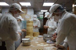 Fresh dumplings at famous Din Tai Fung restaurant