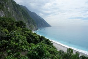 Scenic Huide Road winds trough the Qingshui Cliffs