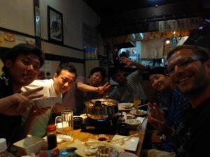 Enjoying japanese hospitality