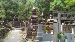 Okunoin graveyard in Koyasan